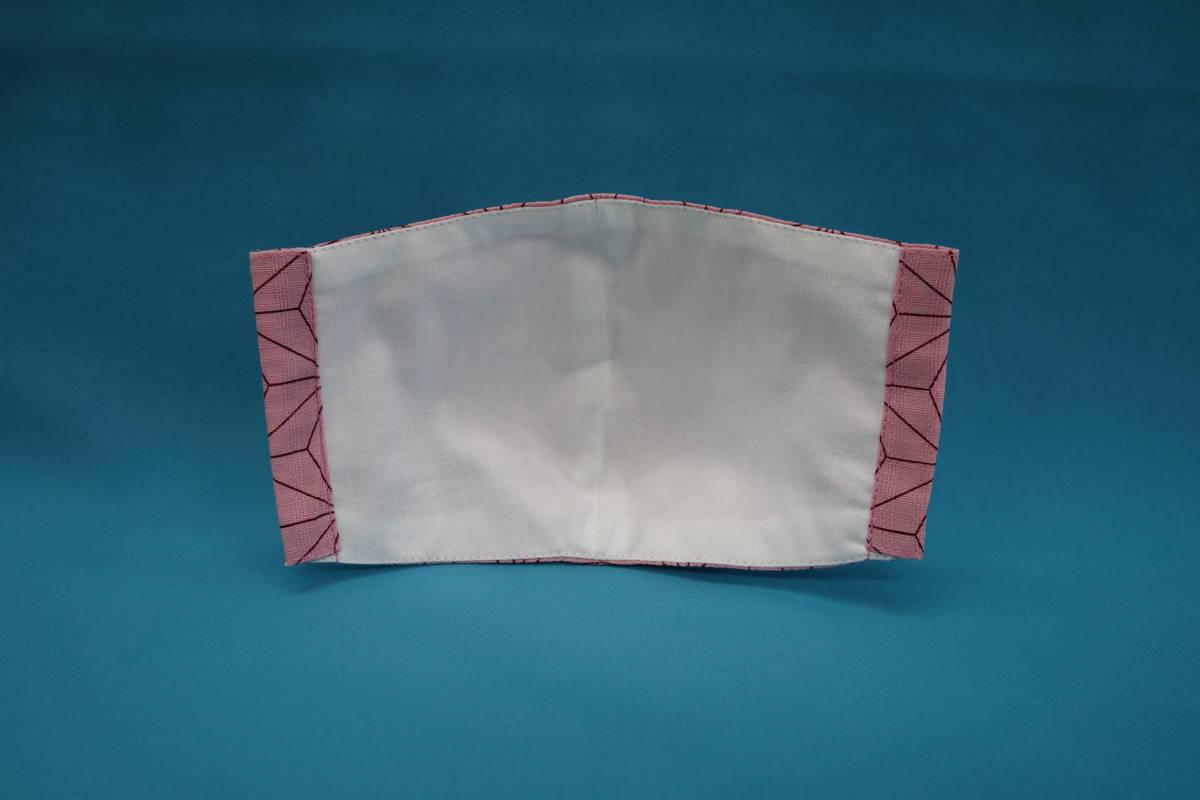 ■麻の葉 ピンク ■綿100% ■和柄 ■裏白 ■マスク用ゴム ■立体 ■ハンドメイド ■使い捨てマスク節約 ■カバー ■きれいな柄_画像2