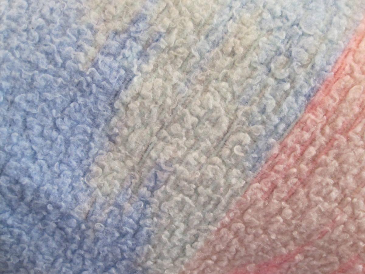USA ヴィンテージ Biederlack Of America ブランケット アクリル毛布 パステルカラー アメリカン ウエスタン_画像7