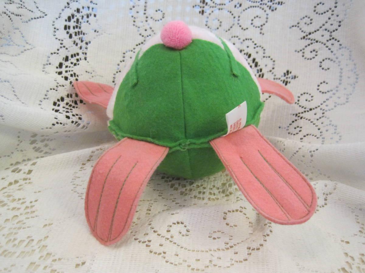 イースターバニー ヴィンテージ Pass Philimon&Hart 縫いぐるみ ピンク系 緑色の帽子とオーバーオール フエルト タグ付 1978年製 _画像7