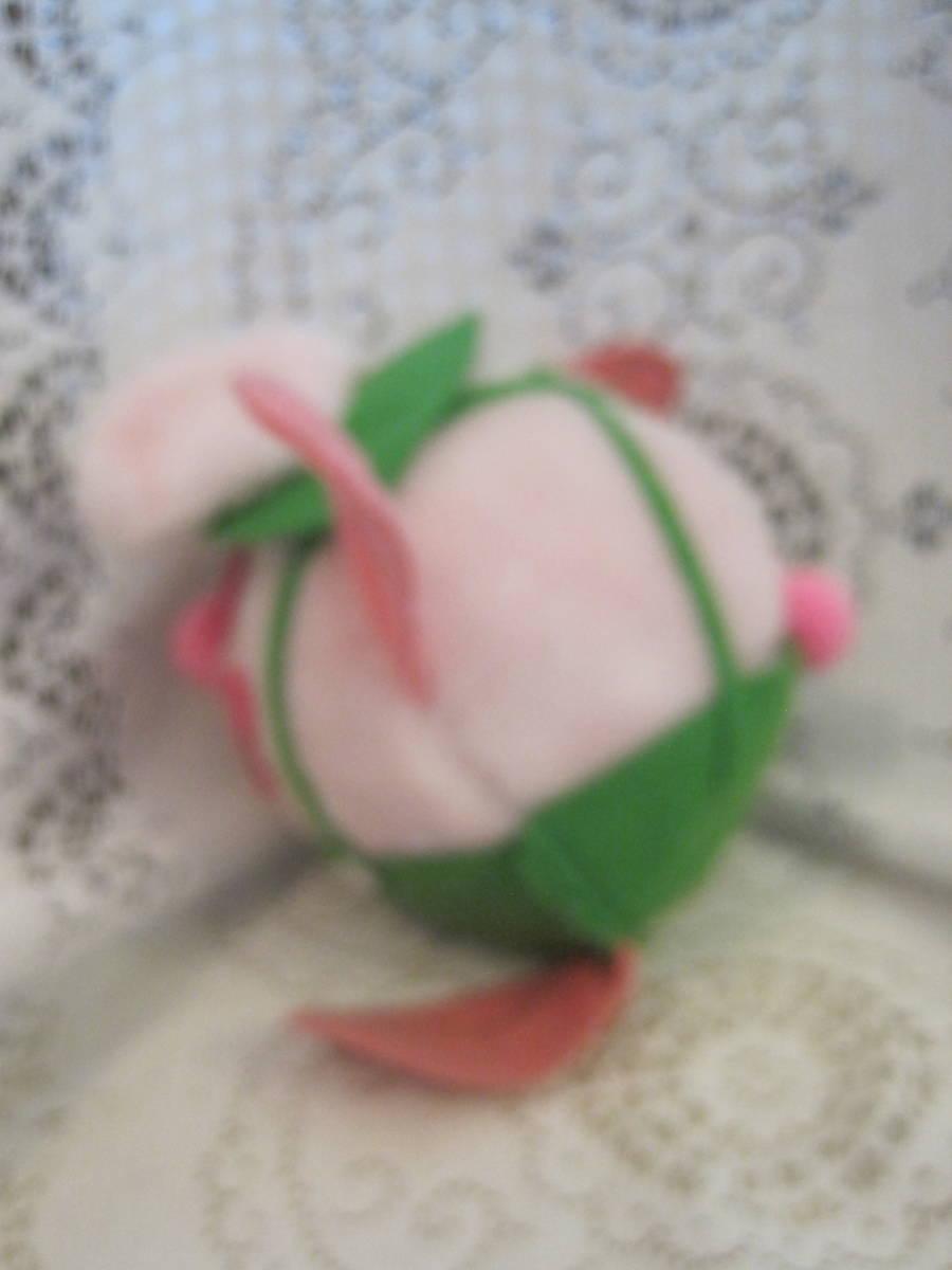 イースターバニー ヴィンテージ Pass Philimon&Hart 縫いぐるみ ピンク系 緑色の帽子とオーバーオール フエルト タグ付 1978年製 _画像2