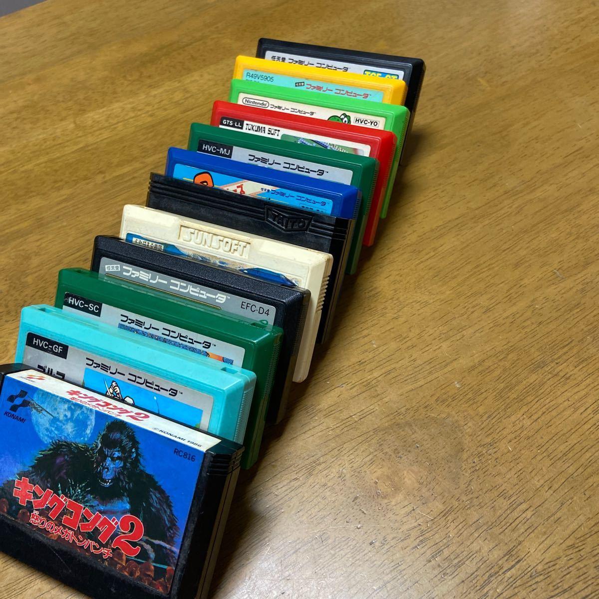 任天堂 ファミコンソフト 13本まとめてセット 中古 箱 説明書なし ジャンク レトロゲーム アーケード