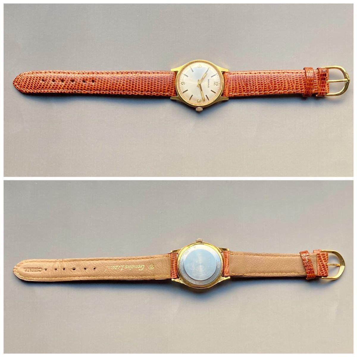 美品★動作良好★BENRUS ベンラス アンティーク 腕時計 メンズ 手巻き ケース径33㎜ ビンテージ ウォッチ 男性 レトロ_画像8