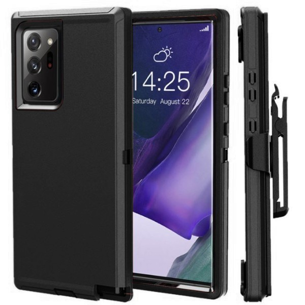 Galaxy Note20 Ultra 5G docomo SC-53A au SCG06 ハードケース 腰掛け ギャラクシー ノート20 ウルトラ カバー ブラック