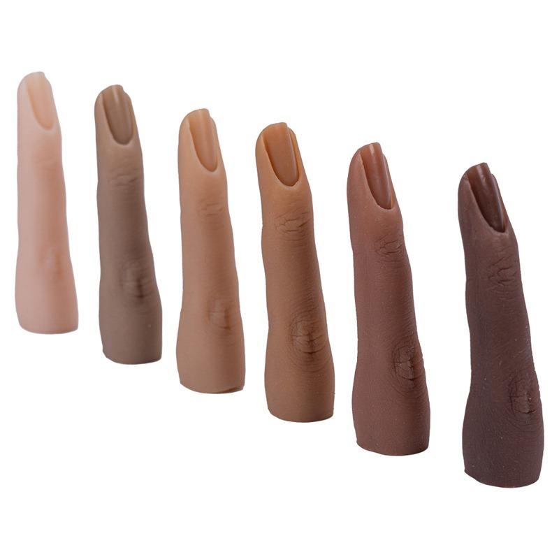 d23: ネイルアートシリコーントレーニング 偽指ナチュラルネイル マニキュアツール 柔軟な練習モデル指 ディスプレイ 肌色は6色ご用意♪_肌色は6色からお選び頂けます♪