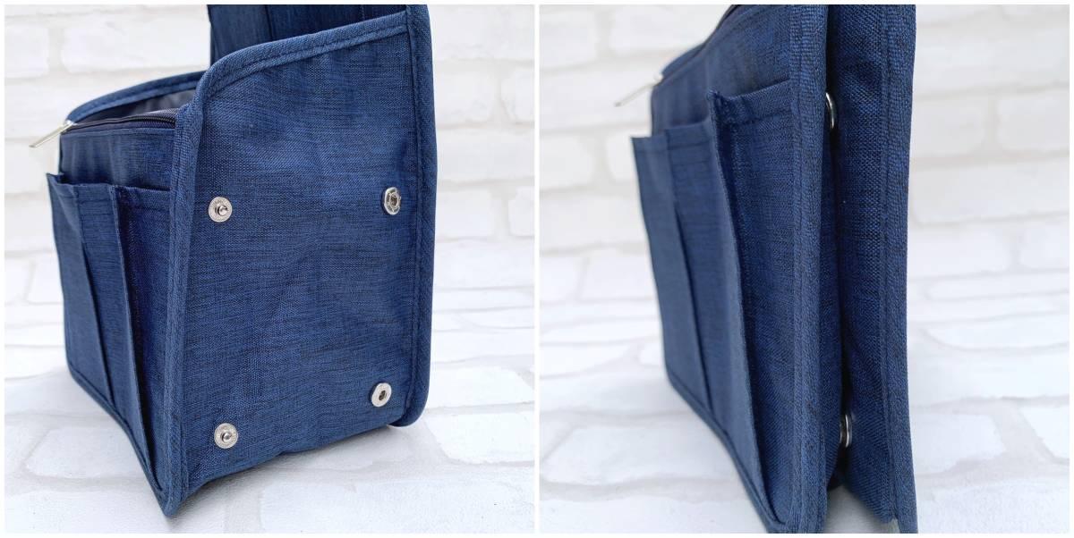 リュックインバッグ ネイビー 小さめ バッグインバッグ 大容量 ポケット 収納 リュックサック トートバッグ バッグ 整理 インナーバッグ