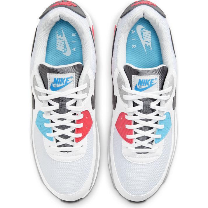 送料無料 28cm●ナイキ エア マックス 90 CV8839-100 白 青 赤 水色 ピンク NIKE AIR MAX 90 スニーカー 非対称 カラフル 1 95 _画像2