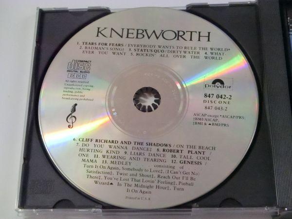 KNEBWORTH THE ALBUM MADE IN U.S.A. 847 042-2 2CD ネブワース・ライブ ERIC CLAPTON ELTON JOHN PAUL MCCARTNEY PINK FLOYD 他_DISC1
