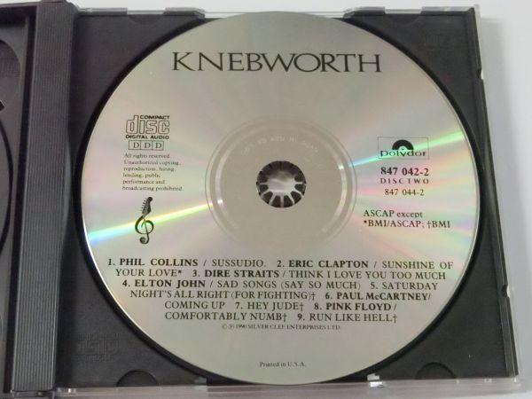 KNEBWORTH THE ALBUM MADE IN U.S.A. 847 042-2 2CD ネブワース・ライブ ERIC CLAPTON ELTON JOHN PAUL MCCARTNEY PINK FLOYD 他_DISC2