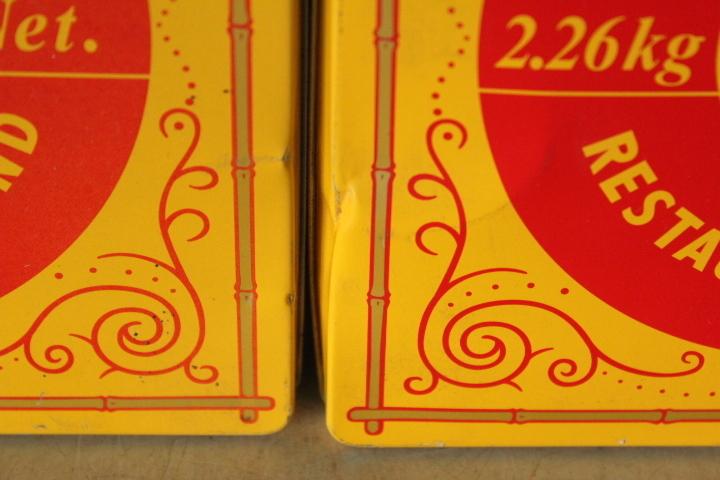 TB526レトロ リプトン 紅茶缶 2ヶ◇空缶/蓋付/業務用/収納/ケース/BOX/小物入れ/雑貨/キッチン/カフェ/インテリア/古道具タグボート_画像8