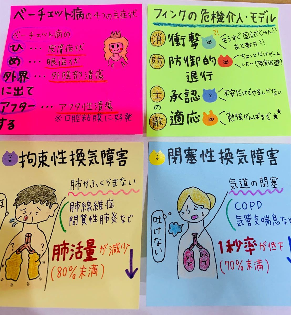 看護 付箋 ノート ★ 実習 資料 USB ★ 検査値 まとめ セット (^^)