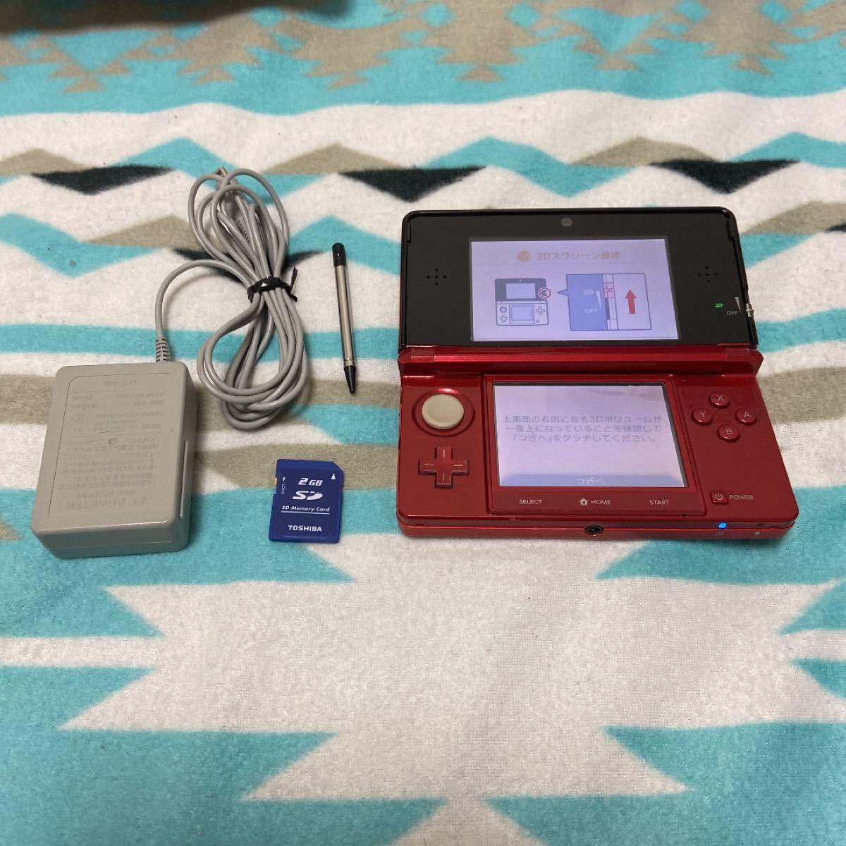 Nintendo 任天堂 ニンテンドー 3DS本体 フレアレッド