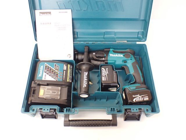 makita マキタ 16mm充電式ハンマドリル HR164DZK 14.4V バッテリー2個/充電器/説明書/ケース付き □ 5FF66-1