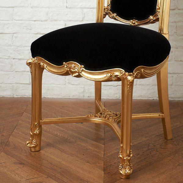 IZ45963I○張替済 37万 SILIK apollonia チェア イタリア シリック 最高峰 ロココ 様式 ゴールド ペイント 姫家具 椅子 ダイニングチェア_画像4