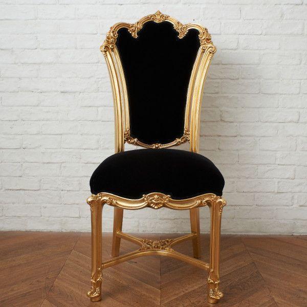 IZ45963I○張替済 37万 SILIK apollonia チェア イタリア シリック 最高峰 ロココ 様式 ゴールド ペイント 姫家具 椅子 ダイニングチェア_画像2
