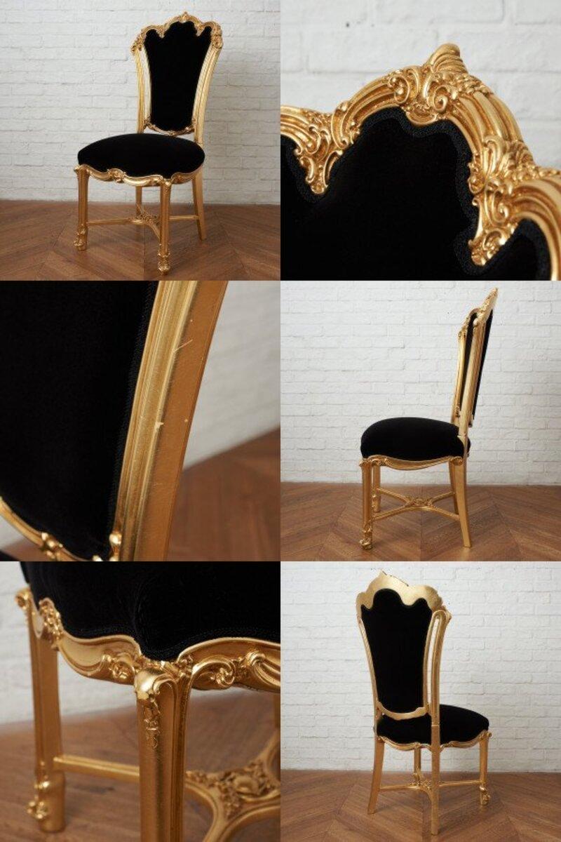 IZ45963I○張替済 37万 SILIK apollonia チェア イタリア シリック 最高峰 ロココ 様式 ゴールド ペイント 姫家具 椅子 ダイニングチェア_画像6