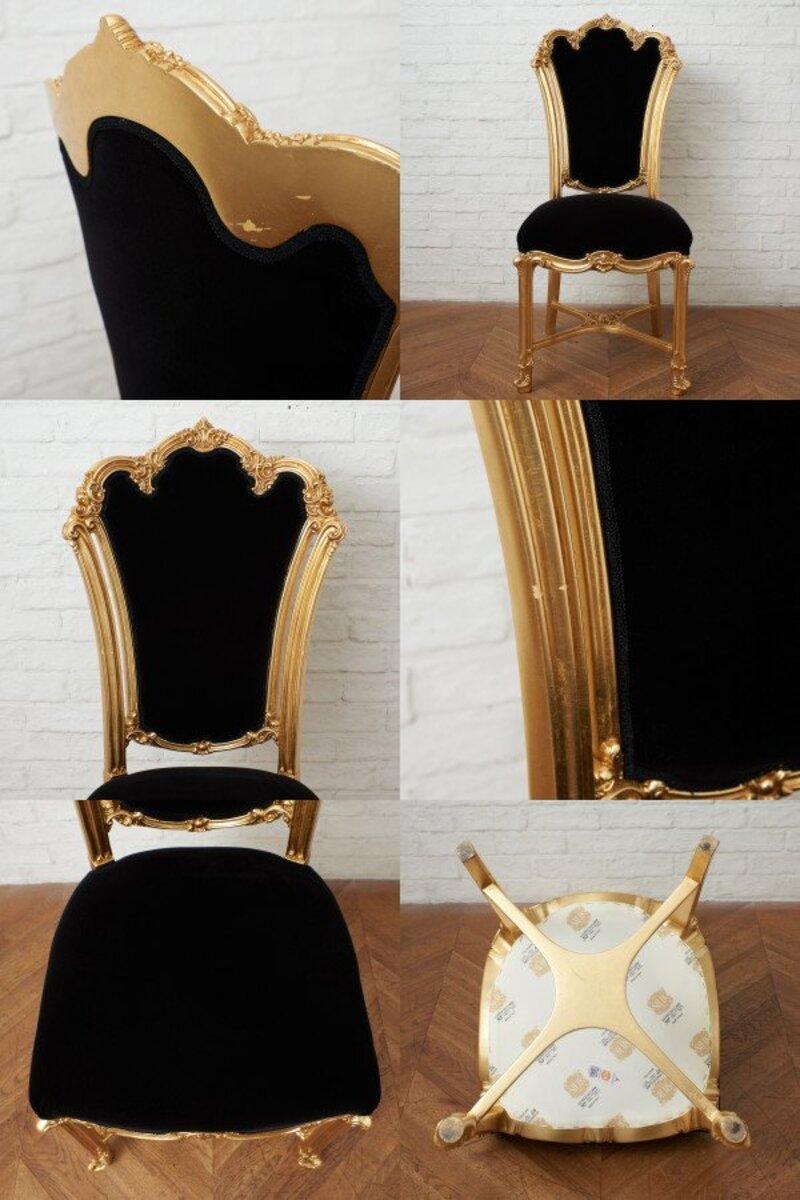 IZ45963I○張替済 37万 SILIK apollonia チェア イタリア シリック 最高峰 ロココ 様式 ゴールド ペイント 姫家具 椅子 ダイニングチェア_画像7