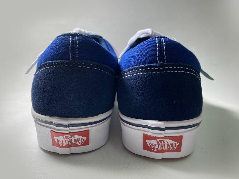 VANS OFF THE WALL Comfycush Old Skool  バンズ コンフィークッシュ オールドスクール (Dress Blues/Blue/Red/26.0cm)_画像3