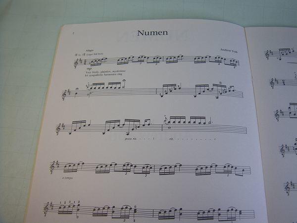 クラシック・ギター洋譜「NUMEN」中古楽譜_画像2