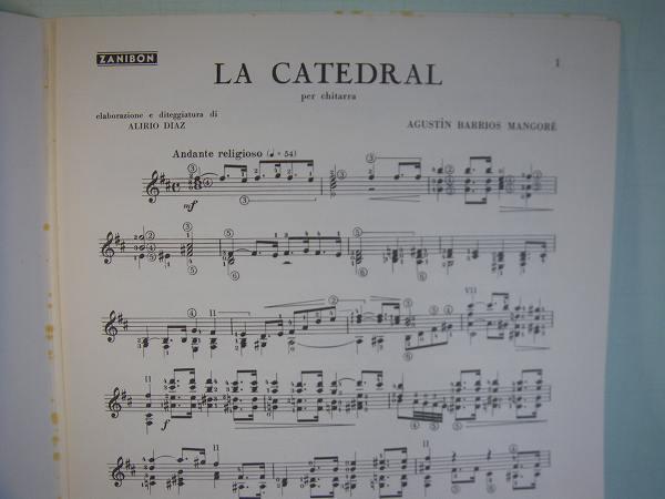 クラシック・ギター洋譜「LA CATEDRAL」中古楽譜_画像2