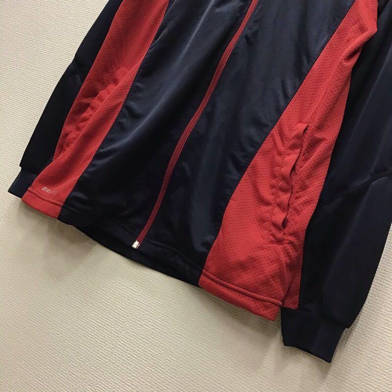 【O140】NIKE Mサイズ ジャージ ネイビー 薄地 軽量 メンズブランド古着 ナイキ 紺色 スポーツウェア トレーニングウェア 送料無料