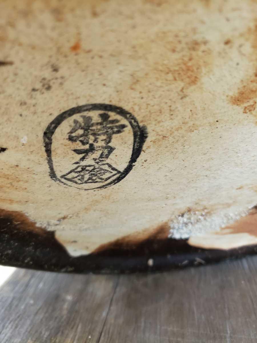 火鉢 古民家 大きい 灰入り 特力 花の絵 古民具 丸火鉢 ひばち 陶磁器 _画像7