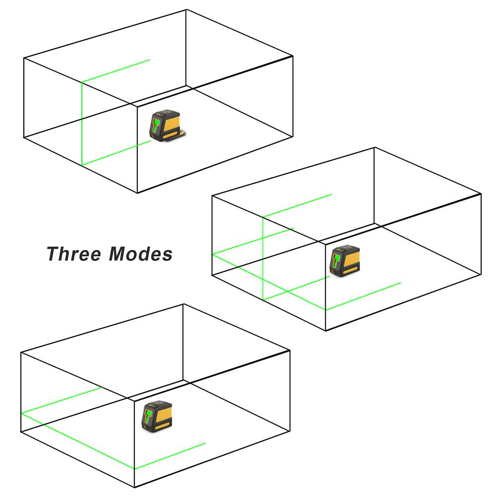 《最安新品》デジタル測定器 レーザーレベル MESTEK 緑 クロスライン 防水 ポータブル 水平 垂直 ホームツール プロ仕様_画像5