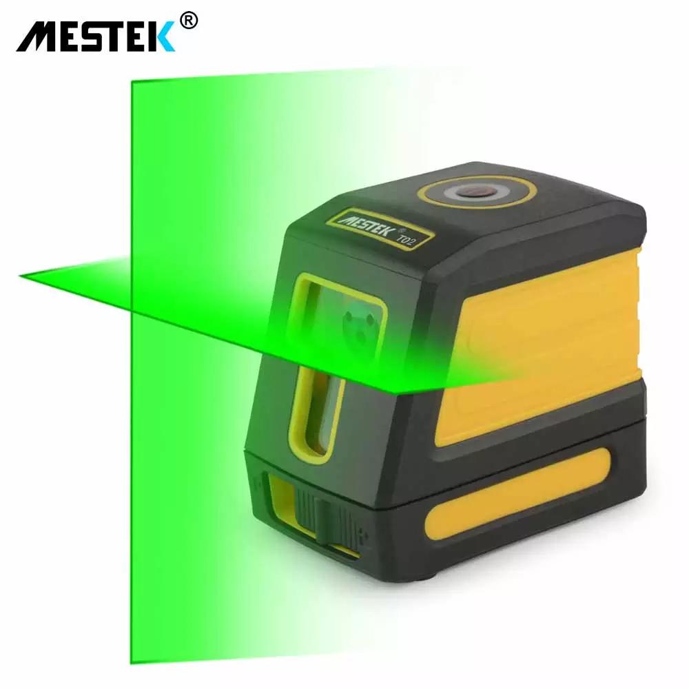 《最安新品》デジタル測定器 レーザーレベル MESTEK 緑 クロスライン 防水 ポータブル 水平 垂直 ホームツール プロ仕様_画像1