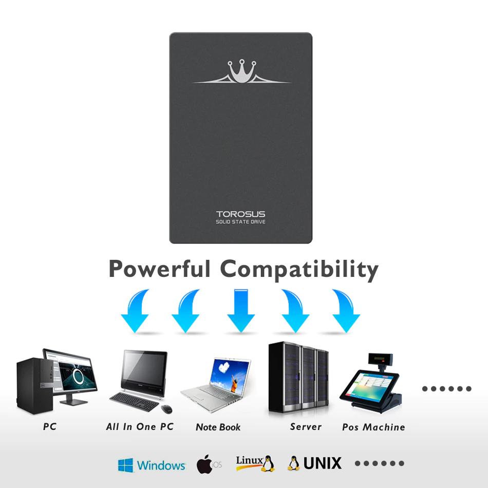 《最安新品》SSD TOROSUS 120GB SATA3 / 6.0Gbps 内蔵型 2.5インチ NAND 3D TLC 新品未使用 デスクトップ ノートPC TSA120_画像7