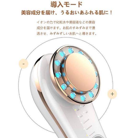 美顔器 温冷美顔器 温熱振動 イオン導入 イオン導出 毛穴ケア 美肌 小顔 保湿 フェイスケア 自宅用美顔器