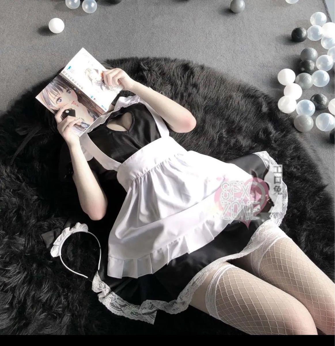 セクシーコスプレ 超可愛いハートメイド服 セクシーランジェリーセット