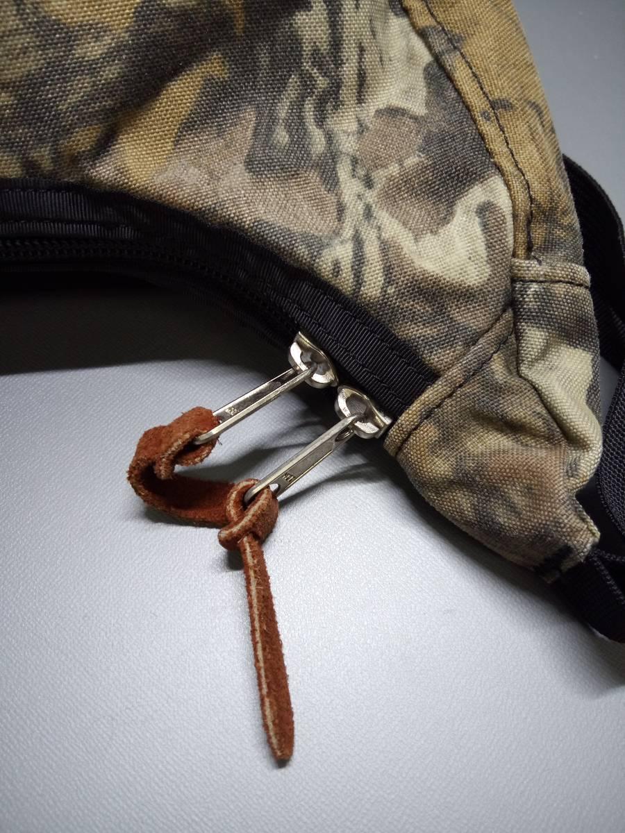 美品 USA製 グレゴリー ラフィンバッグ アドバンテージティンバー 迷彩 gregory アメリカ製 旧タグ 三日月型バッグ ショルダーバッグ