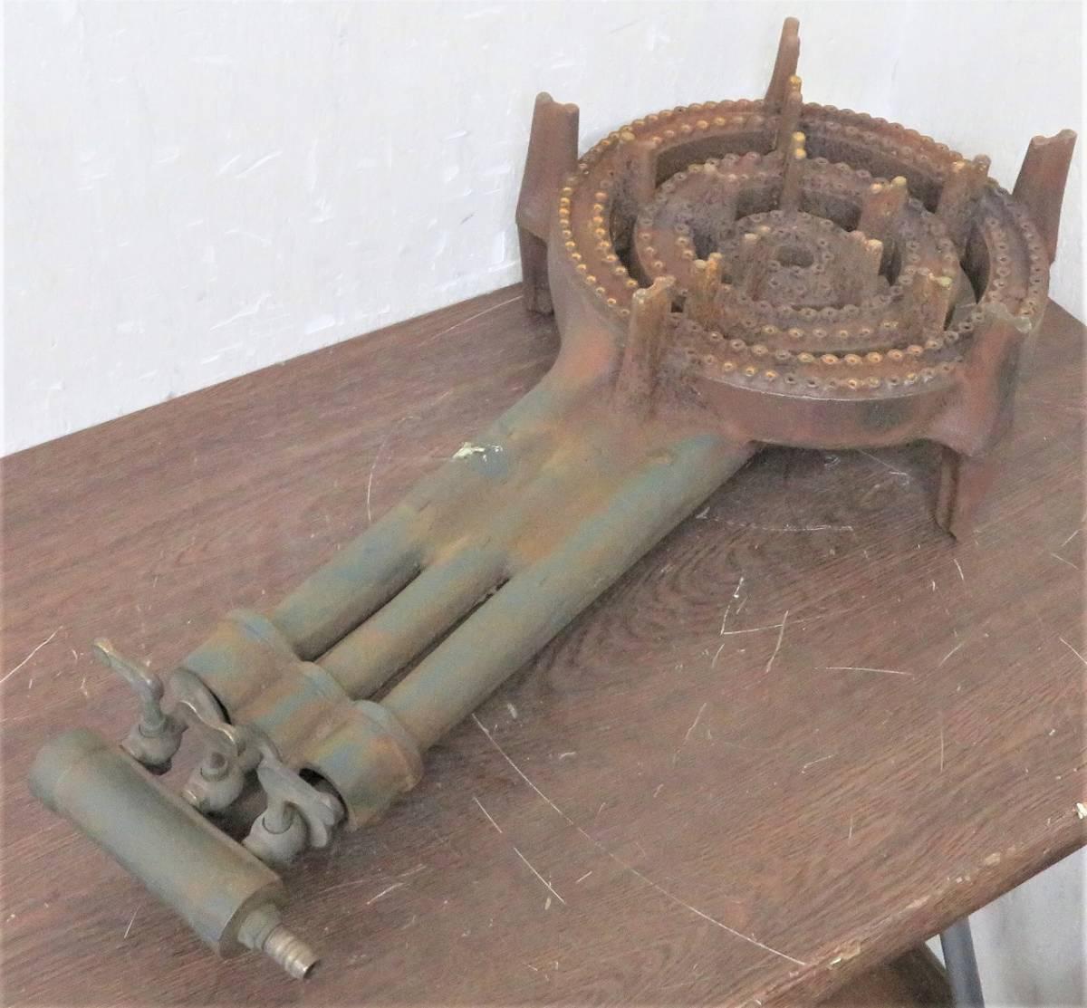 厨房機器《LPガス用鋳物コンロ》業務用/屋台 直径300mm_画像3