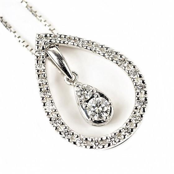 【Beauty products】 Tasaki Tasaki Pearl K18WG Diamond Necklace