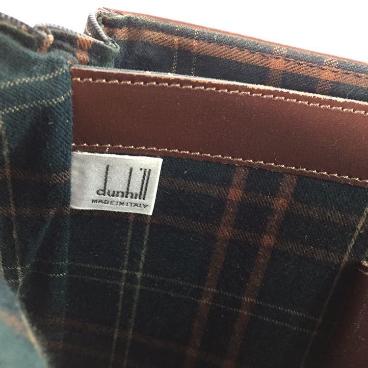 【ダンヒル】本物 dunhill ビジネスバッグ 書類かばん ロゴ金具 ブリーフケース レザー×PVC 男性用 メンズ イタリア製_画像9