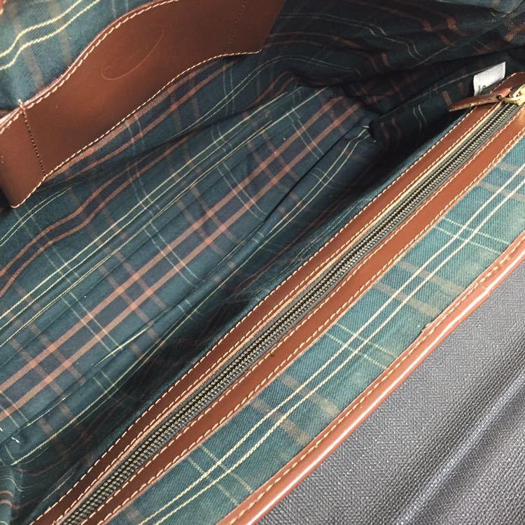 【ダンヒル】本物 dunhill ビジネスバッグ ロゴ金具 ブリーフケース 書類かばん レザー×PVC 男性用 メンズ イタリア製_画像8
