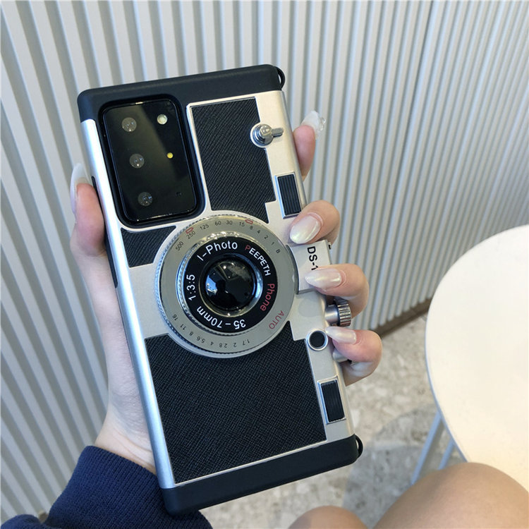 Samsung Galaxy Note20 Ultra5G ケース ギャラクシー ノート20 Ultra5G au SCG06 docomo SC-53A 保護カバー 背面カバー カメラ風 個性