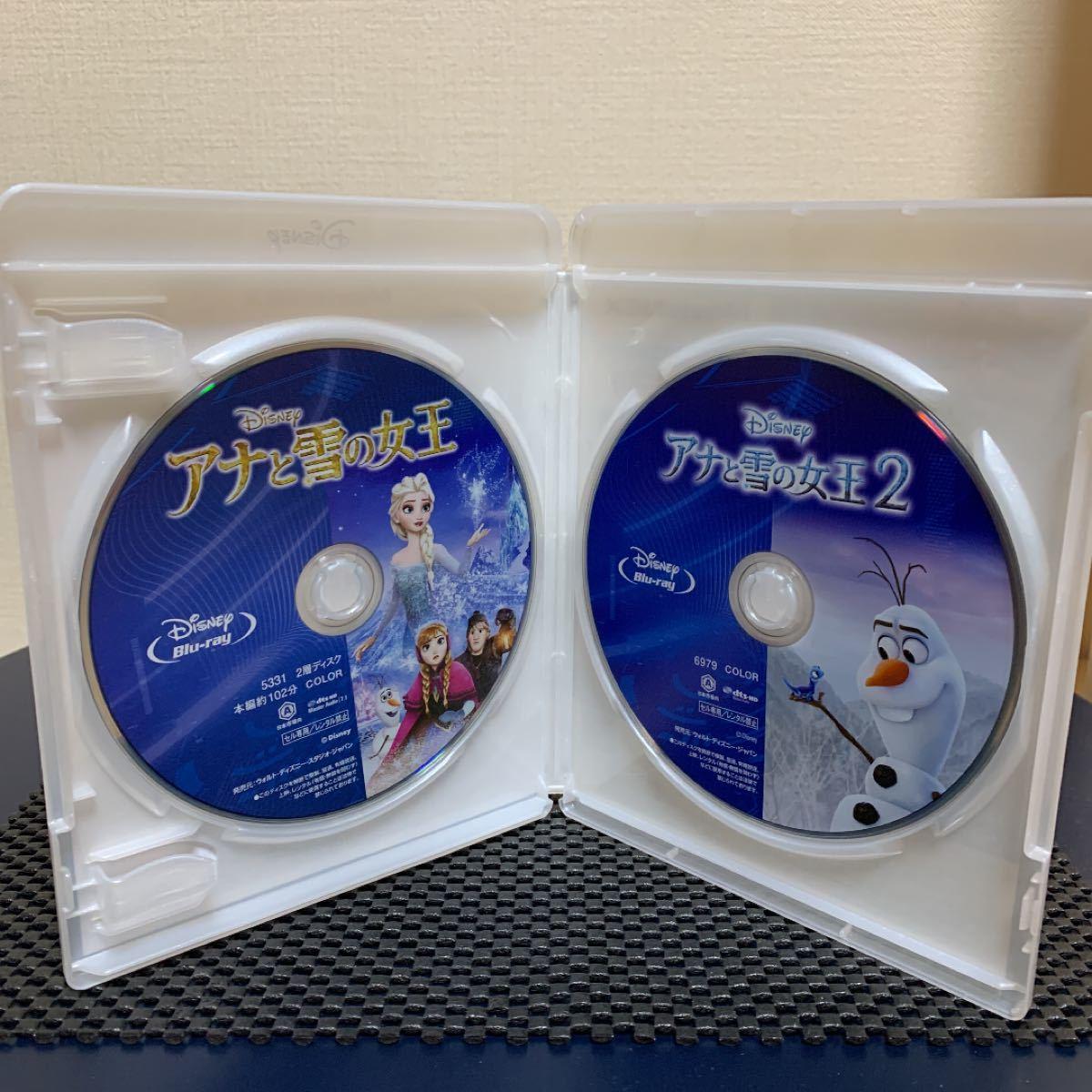 アナと雪の女王 1・2 ブルーレイセット 正規ケース付き ディズニー