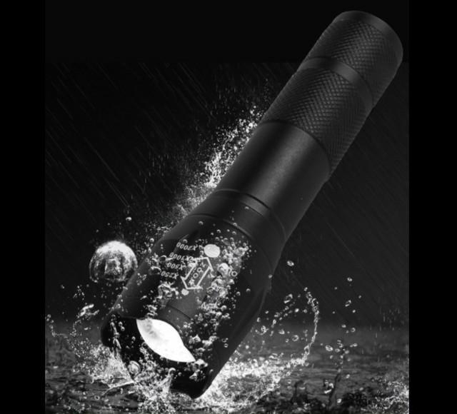 USBケーブル付き☆懐中電灯 led USB充電式 強力 防水 携帯電話充電