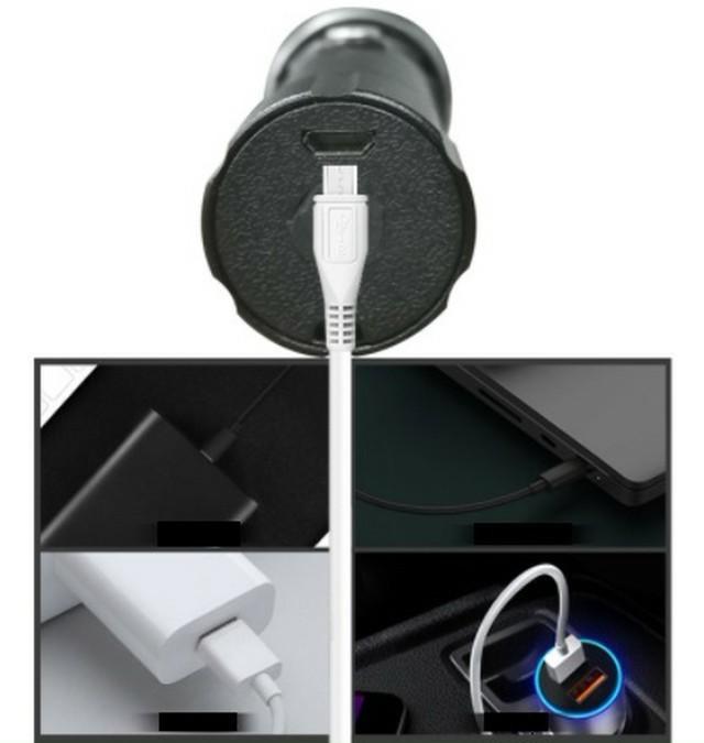 新品 USB ケーブル付き☆懐中電灯 led USB充電式 強力 防水 アウトドア
