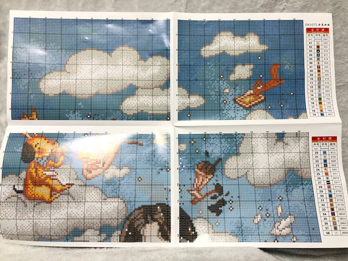 クロスステッチ刺繍キット(DX1075)11CT