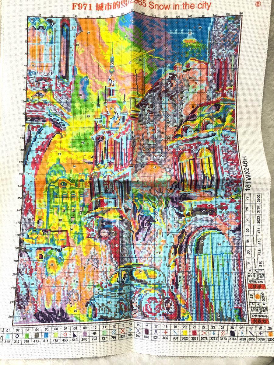 クロスステッチ刺繍キット(F971)14CT
