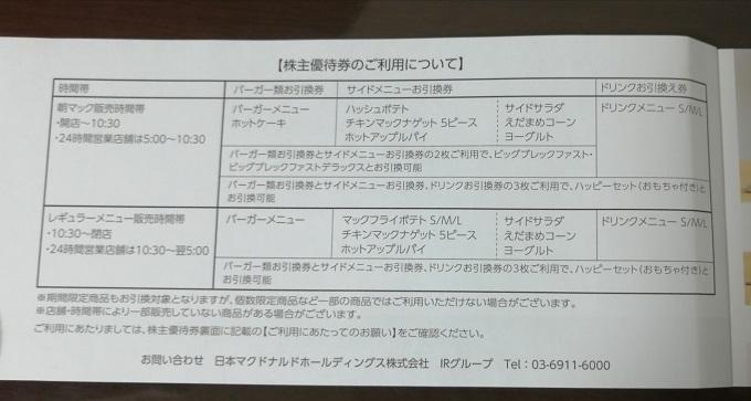 【即決】 マクドナルド 株主優待券 2冊 送料無料_画像3