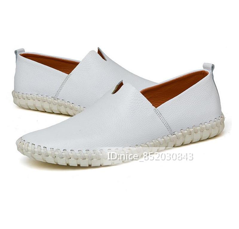 スリッポン 新品★メンズ ローファー ドライビングシューズ 紳士靴 カジュアル 柔らかい 「24cm-28.5m」 ホワイト 25.0cm_画像3