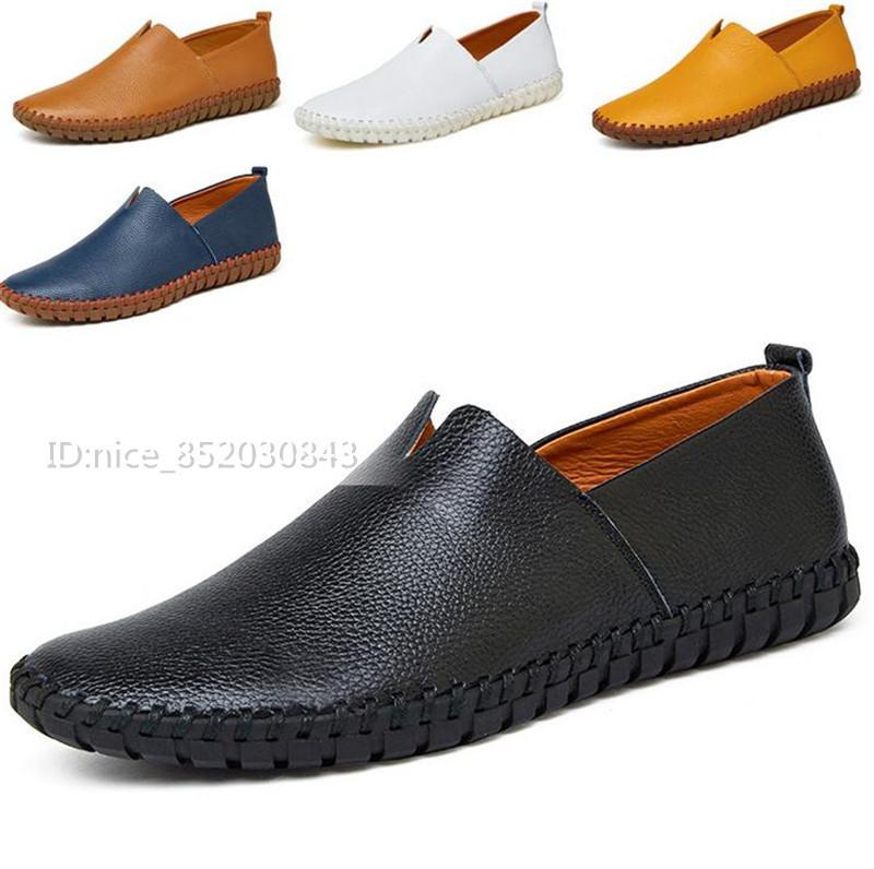 スリッポン 新品★メンズ ローファー ドライビングシューズ 紳士靴 カジュアル 柔らかい 「24cm-28.5m」 ホワイト 25.0cm_色*サイズ選択可