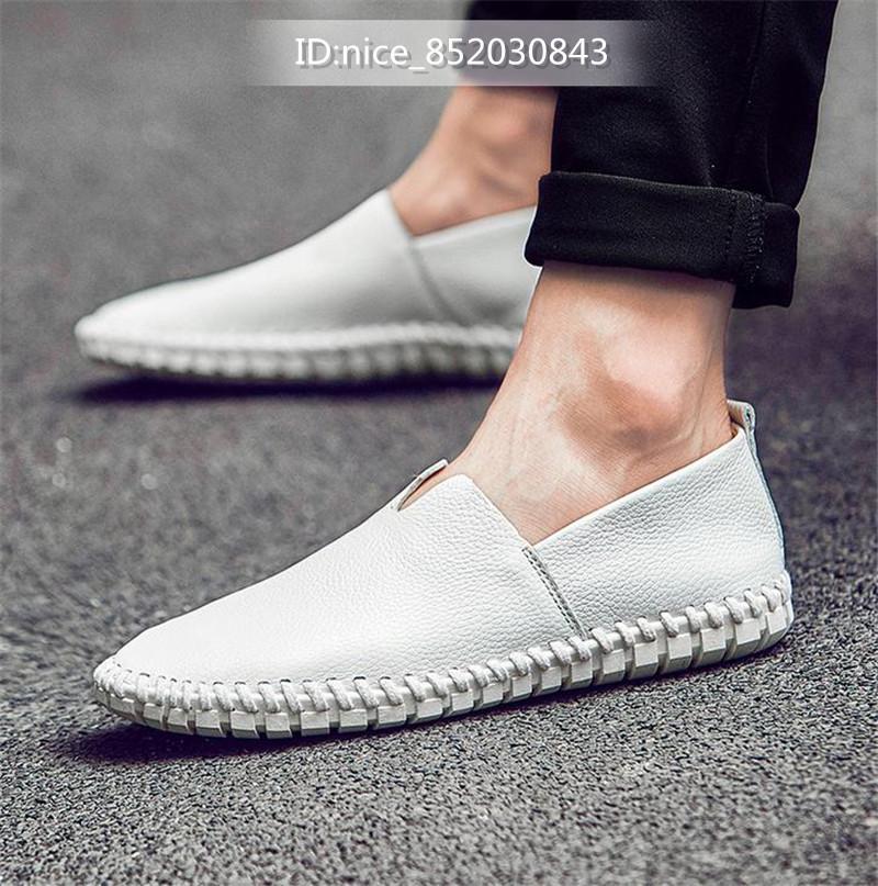 スリッポン 新品★メンズ ローファー ドライビングシューズ 紳士靴 カジュアル 柔らかい 「24cm-28.5m」 ホワイト 25.0cm_画像1