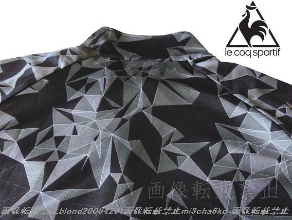■新品【le coq】ルコック左胸刺繍ロゴSWEAT ABSORPTION-DRY高機能ハーフZIPポロ■BK/O(XL)_画像4