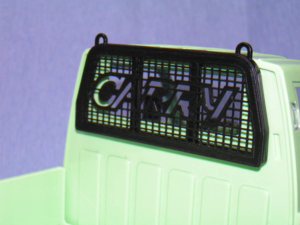 3DプリンタPLA+ 1/10 WPL D12用 『CARRYロゴ付メッシュガード』 スズキ キャリイ トラック ラジコン RC_装着参考
