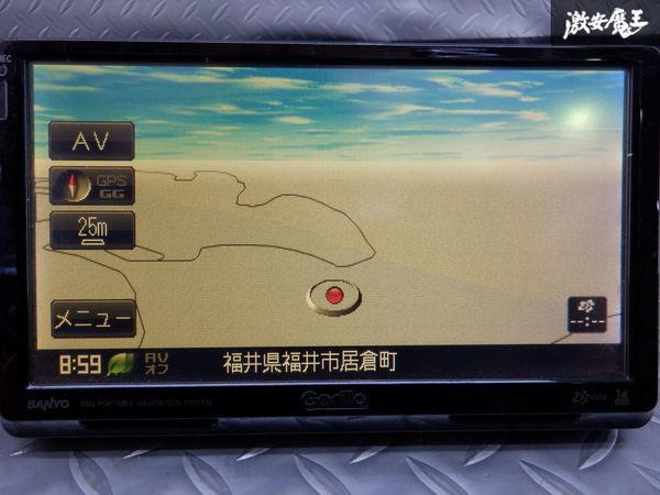 保証付 SANYO サンヨー ポータブルナビ NV-SD730DT ゴリラ ワンセグ内蔵_画像3