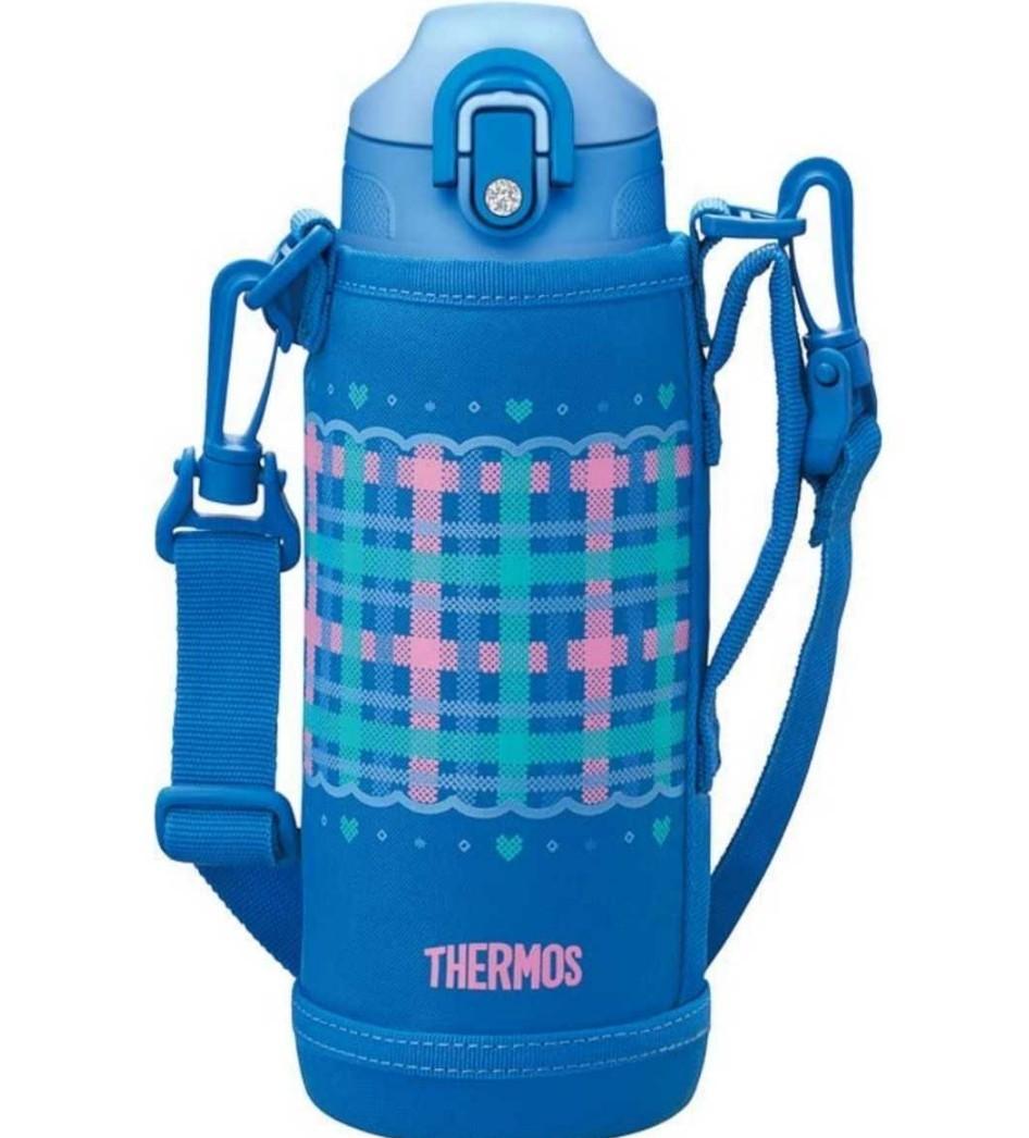 サーモス 2way 800ml 水筒 チェックブルー2way サーモス ステンレスボトル