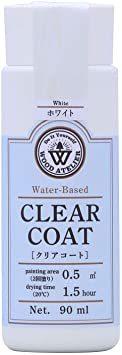 ホワイト 90ml 和信ペイント 水性ウレタンニス ウッドアトリエ クリアコート 90ml 800701 木部をコーティング C_画像1